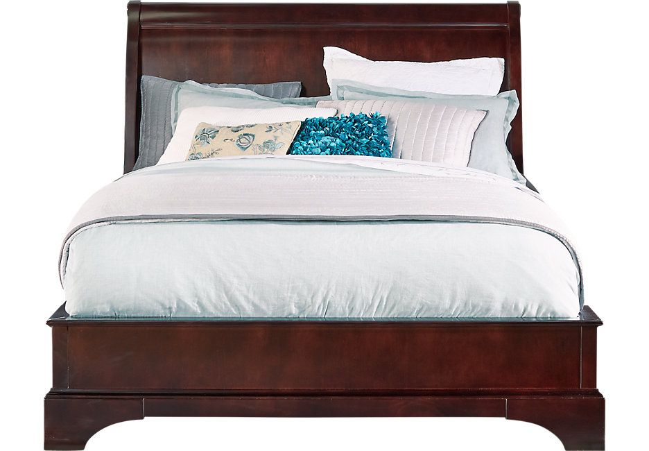 Whitmore Cherry 3 Pc Queen Bed | Queen beds, Dark wood and King beds