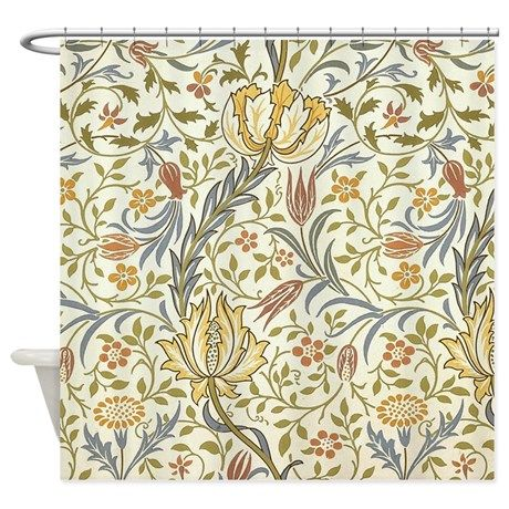 William Morris Flora Pattern Shower Curtain By Fineartdesigns