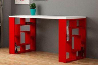Bureau labirent rouge et blanc idecomaison pinterest bureau
