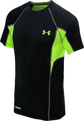 f742c79f8 Designed with UNDER ARMOUR®'s lightest weight fabrication, the men's  HeatGear® Flyweight fitted short-sleeve t-shirt is the closest you'll get  to wearing ...
