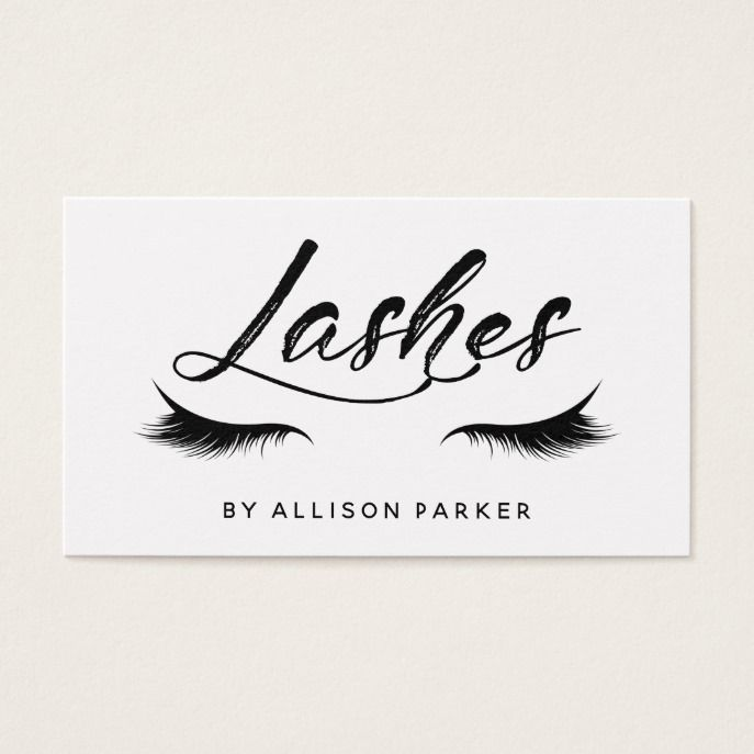 Lashes Business Card Lashes