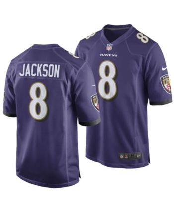 quality design 42d48 a3117 Nike Men's Lamar Jackson Baltimore Ravens Game Jersey ...