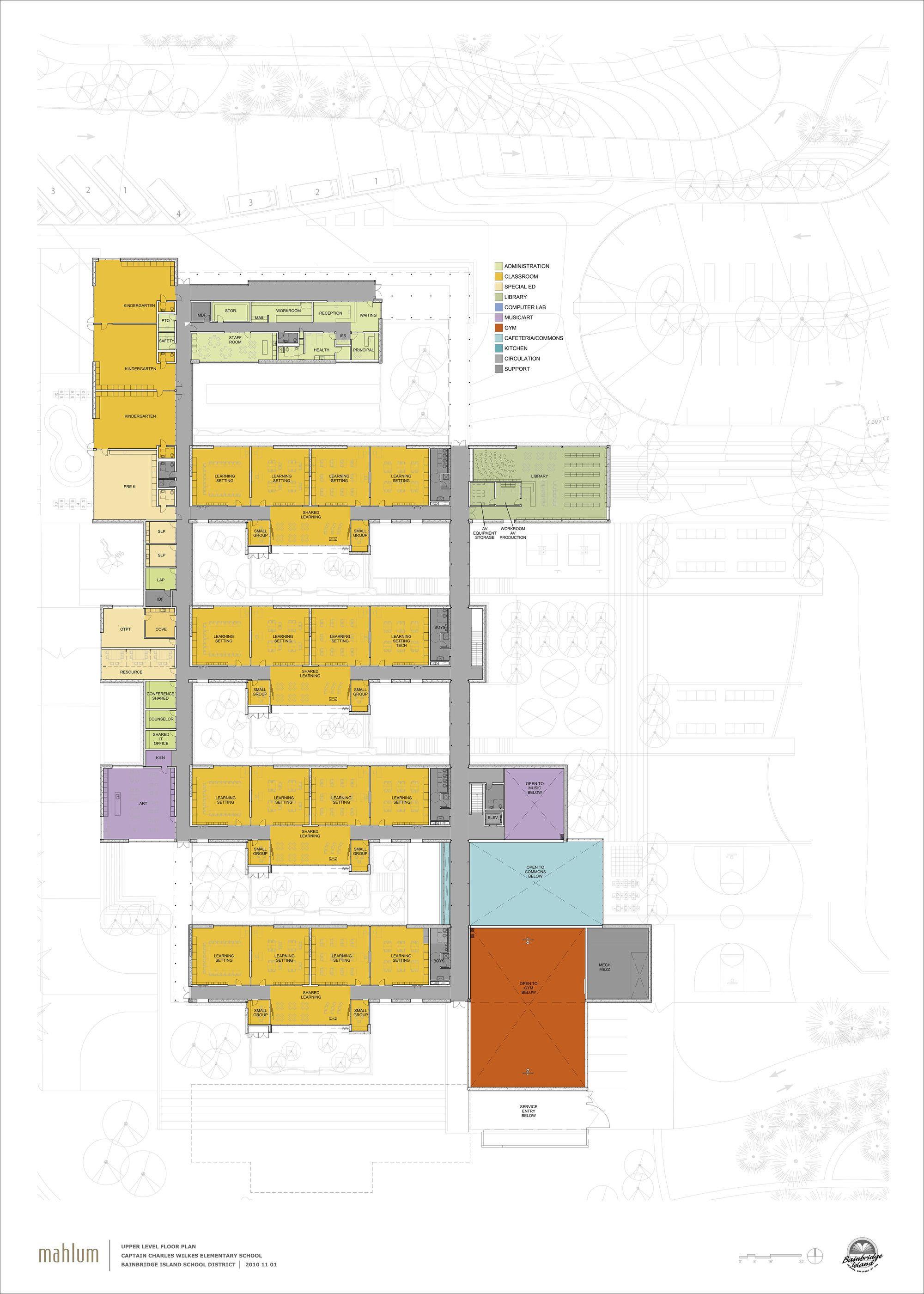 Gallery of wilkes elementary school mahlum 12 elementary schoolsprimary schoolfloor planseducationfloorsschool buildingarchitectureschool