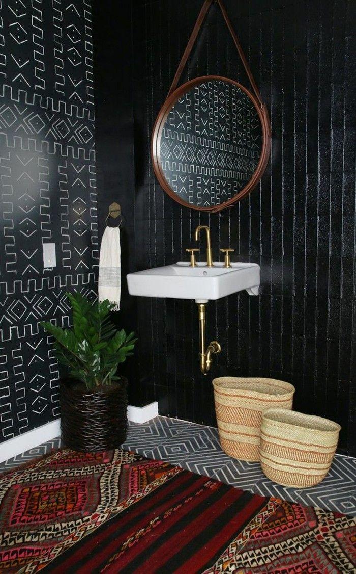 La Beaute De La Salle De Bain Noire En 44 Images Salle De Bain