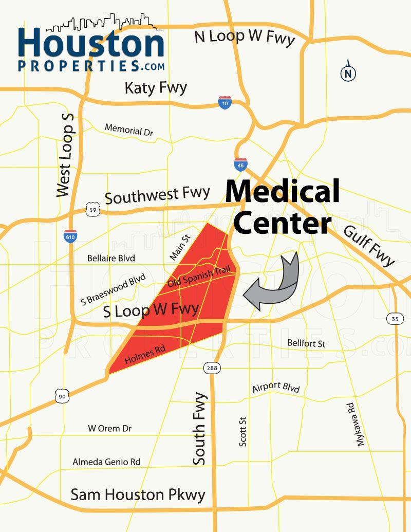 Houston Medical Center Map Texas Medical Center Houston Homes & Neighborhood Guide | For