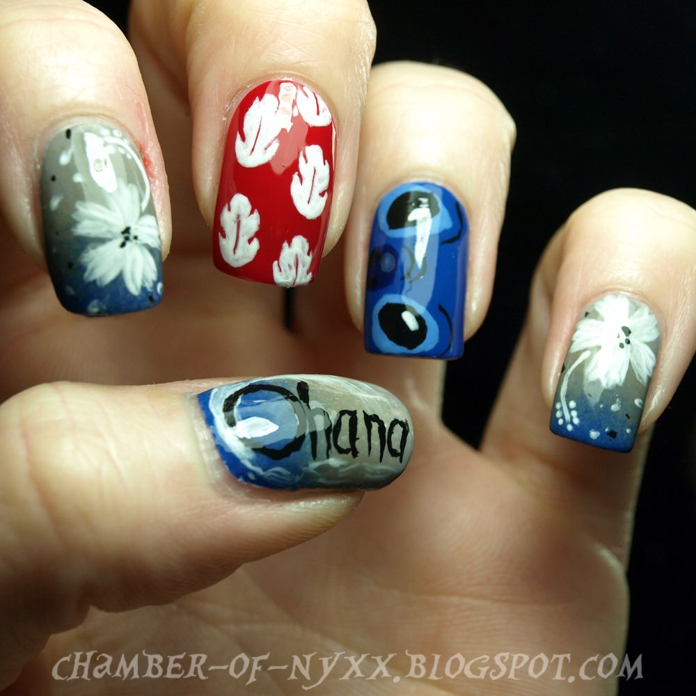 RainPow Nails: Disney Week - Lilo & Stitch | nails | Pinterest ...