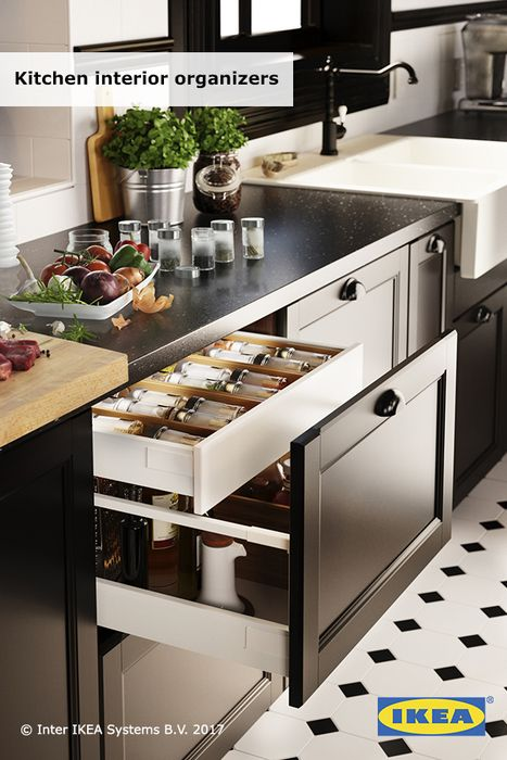 Goodbye Junk Drawers Ikea Kitchen Interior Organizers Turn Chaotic Drawers And Hard To Reach Corners In Ikea Kitchen Interior Ikea New Kitchen Kitchen Design