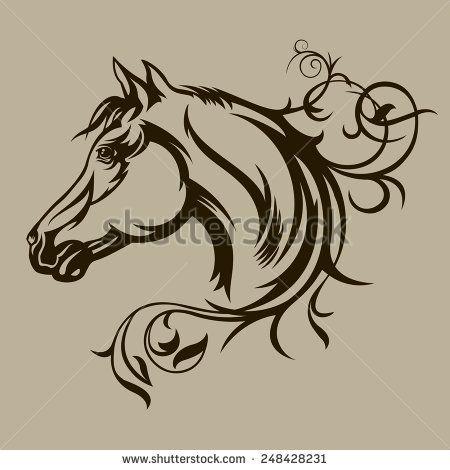 l stock f nyk pek k pek s rajzok shutterstock lovak pinterest horse tattoo and wood. Black Bedroom Furniture Sets. Home Design Ideas