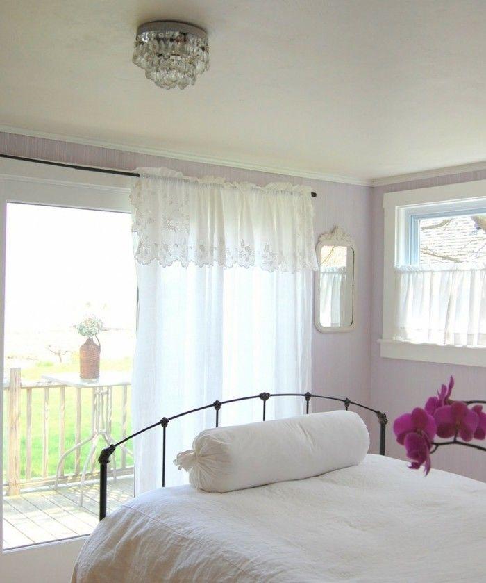 Die Farbe Lila helllila luftige gardinen orchidee   Interieur ...
