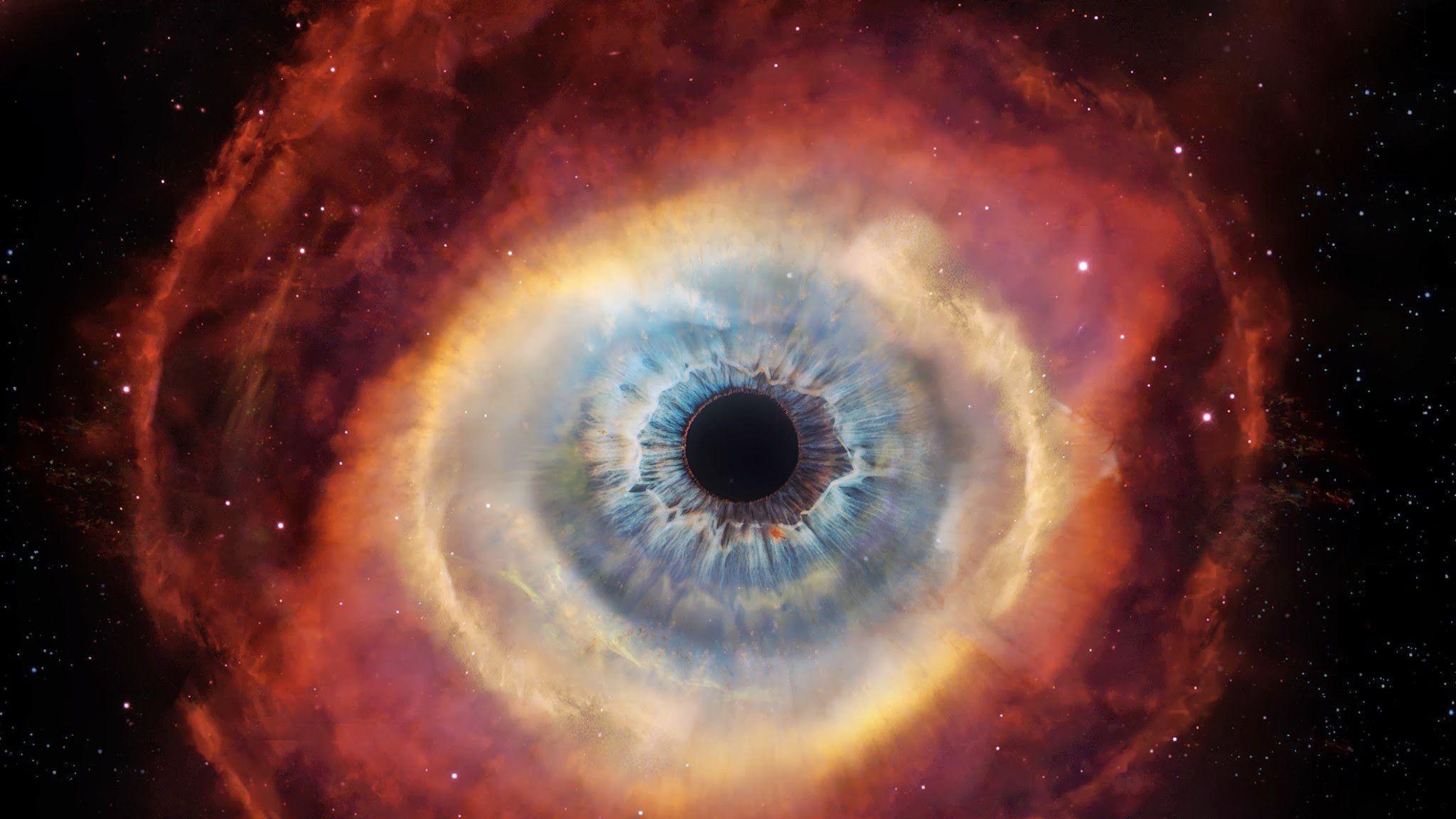 Cat's Eye Nebula Wallpaper Phone for Desktop 2048x1152 px