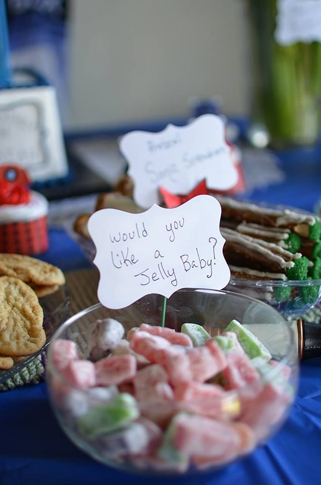 Doctor Who Birthday Party  Would you like a Jelly Baby?