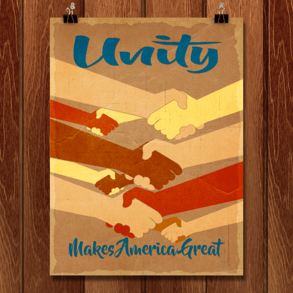 Unity Makes America Great by Tom Blosch for What Makes America Great for Creative Action Network - 2
