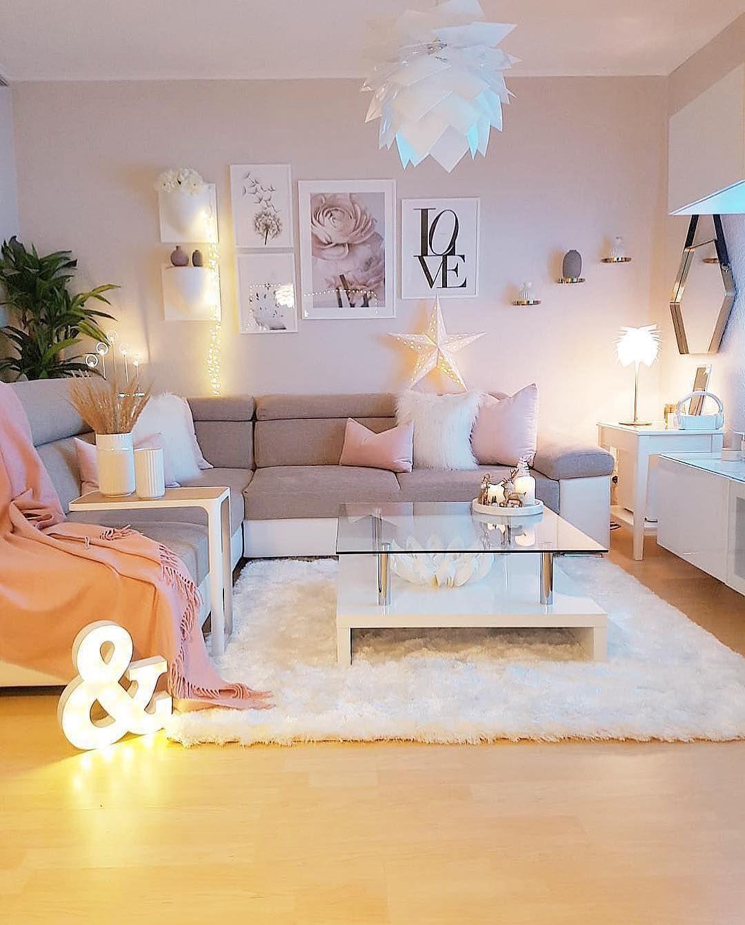 50 Cute Living Room Decor 2020 Cute Living Room Apartment Decorating Living Girly Living Room Well decorated living rooms