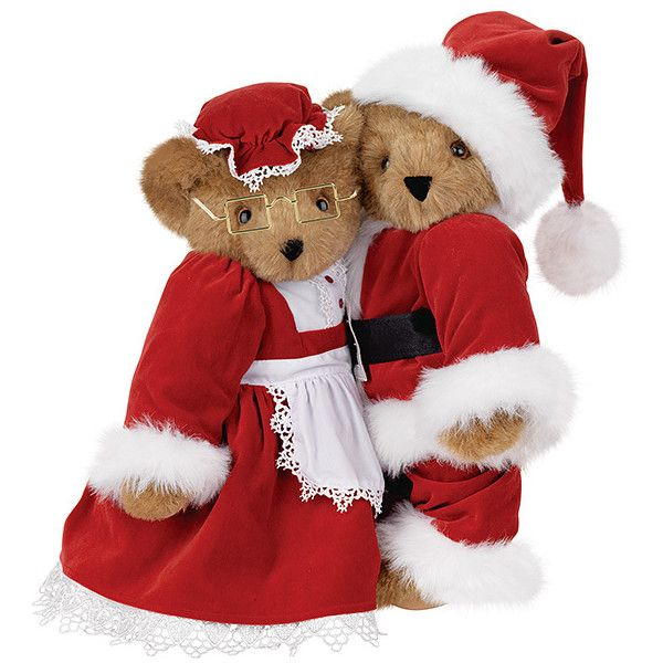 Quot santa and mrs claus set the vermont teddy bear