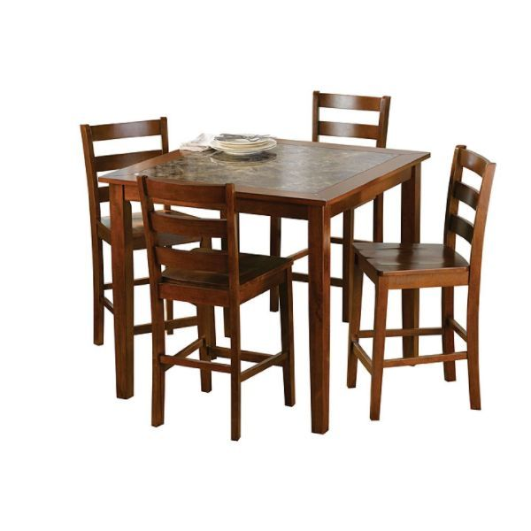 Awesome Jaclyn Smith Traditions 5 Pc Faux Marble Dining Set For Creativecarmelina Interior Chair Design Creativecarmelinacom
