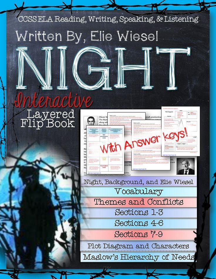 Printable Worksheets night elie wiesel worksheets : Night by elie wiesel novel study literature guide flip book | Elie ...