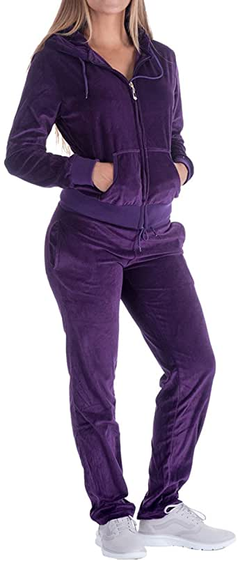 Womens Two Piece Outfits Tracksuit Jogger Outfit Sweatshirt and Sweatpants Sports Sets