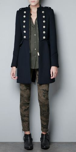 zara-manteau-militaire   mode et tendances   Manteau, Zara et Veste ... afd131e64461