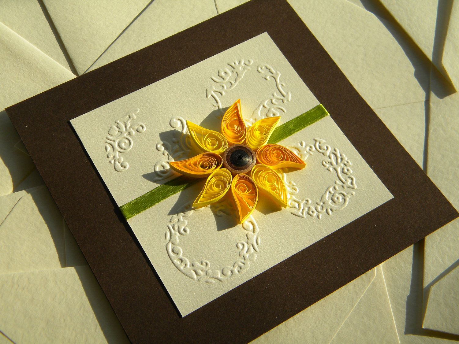 1000 images about Quilling wedding invites – Sunflower Wedding Invites