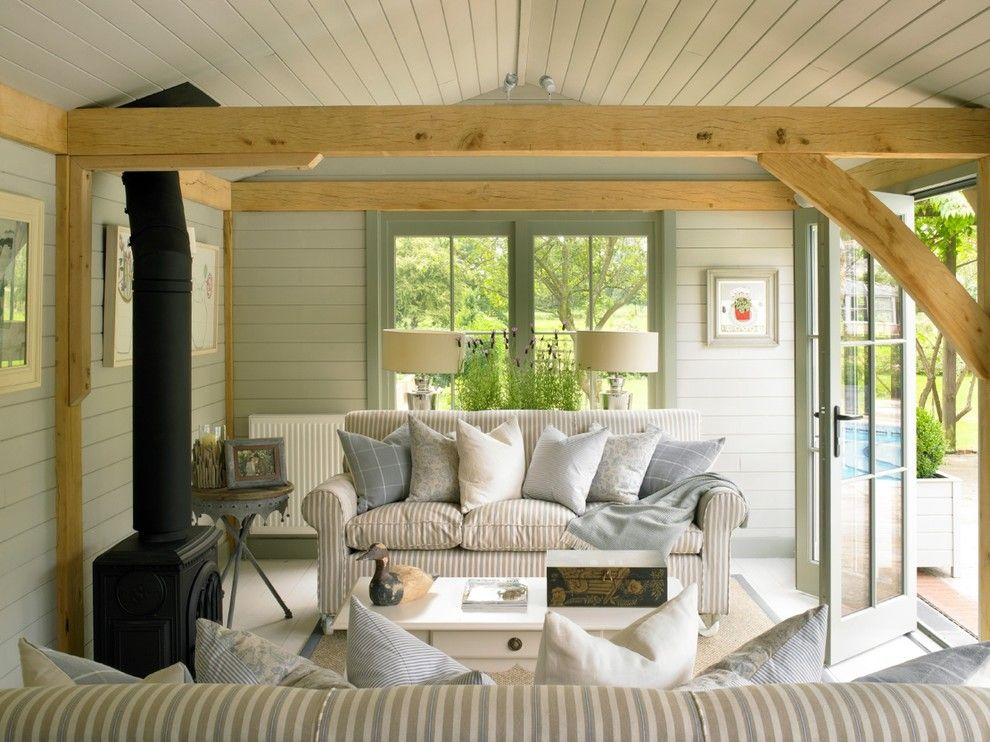 Aesthetic Summer House home designing tips Traditional Family Room ...