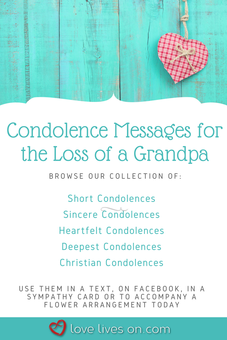 condolence message on death of grandfather