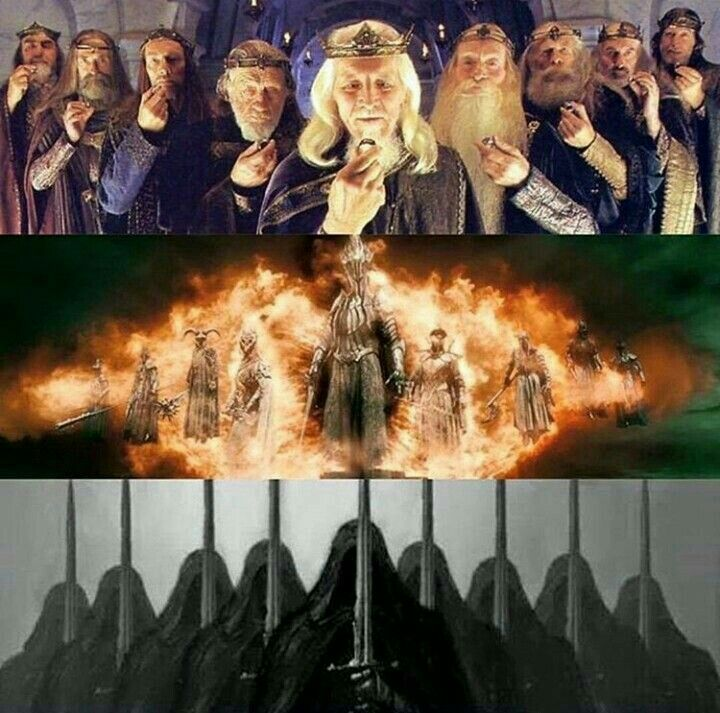 The Nine, Ringwraiths, Nazgul, Once Great Kings Of Men