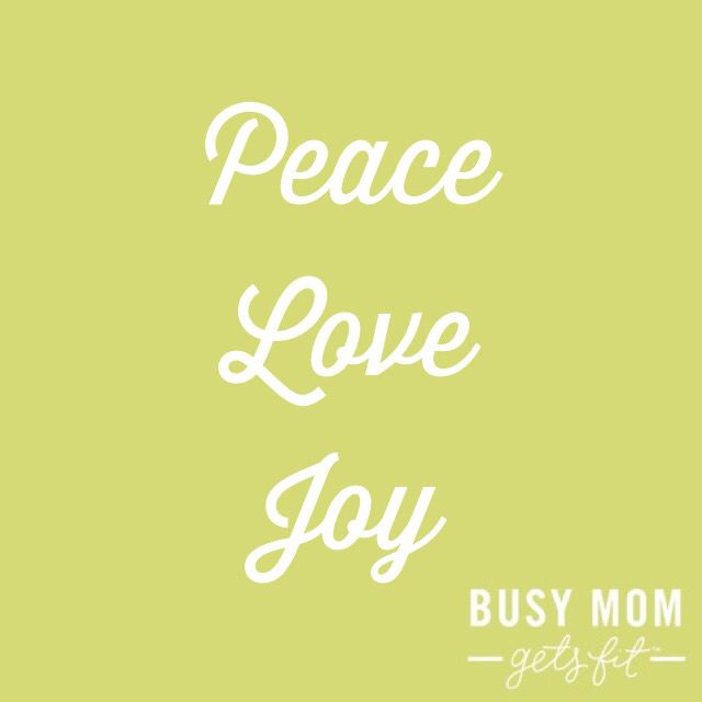 Peace Love Joy Happy Holidays Quote