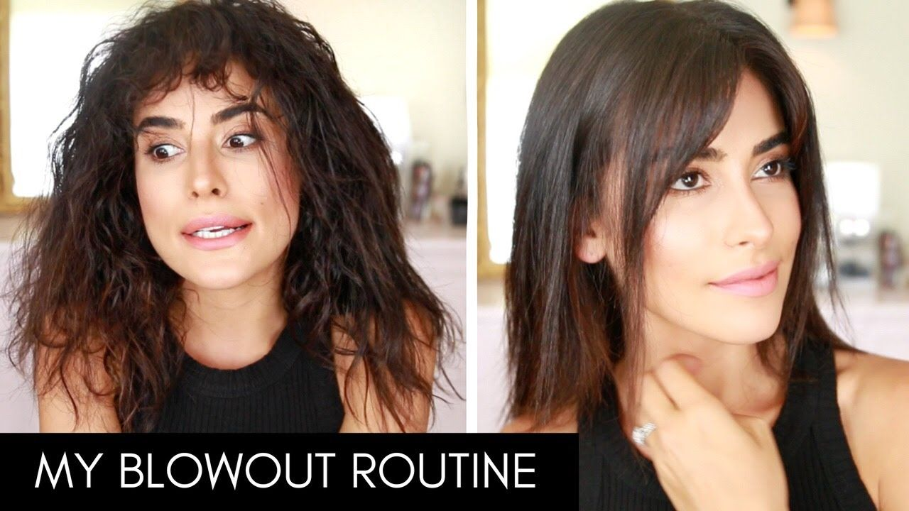 How I Blow Dry Style My Hair With Bangs Wet To Dry Youtube Best Tutorial For Learning How To St Blowdry Styles Growing Out Bangs Hairstyles With Bangs