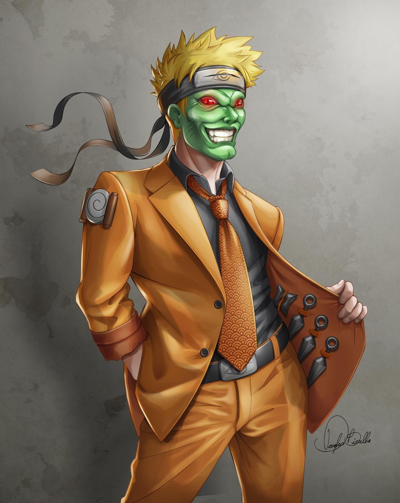 Naruto The Mask By Douglas Bicalho On Deviantart In 2020 Naruto Phone Wallpaper For Men Masked Man