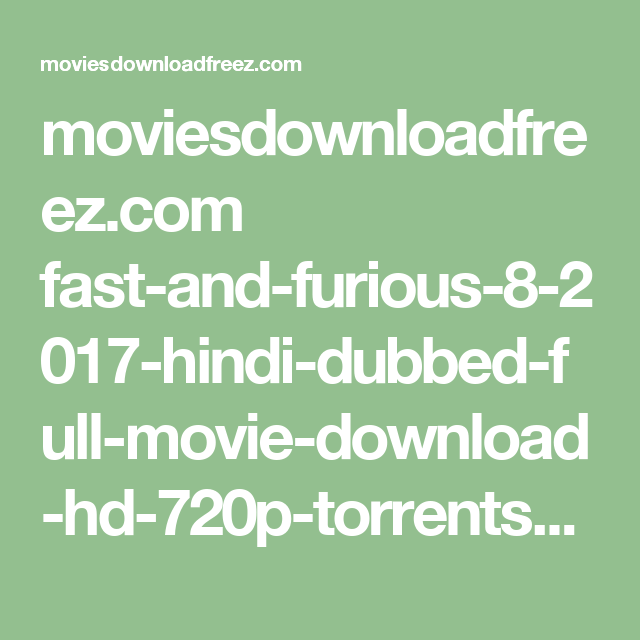 magnet torrent fast and furious 8 in hindi