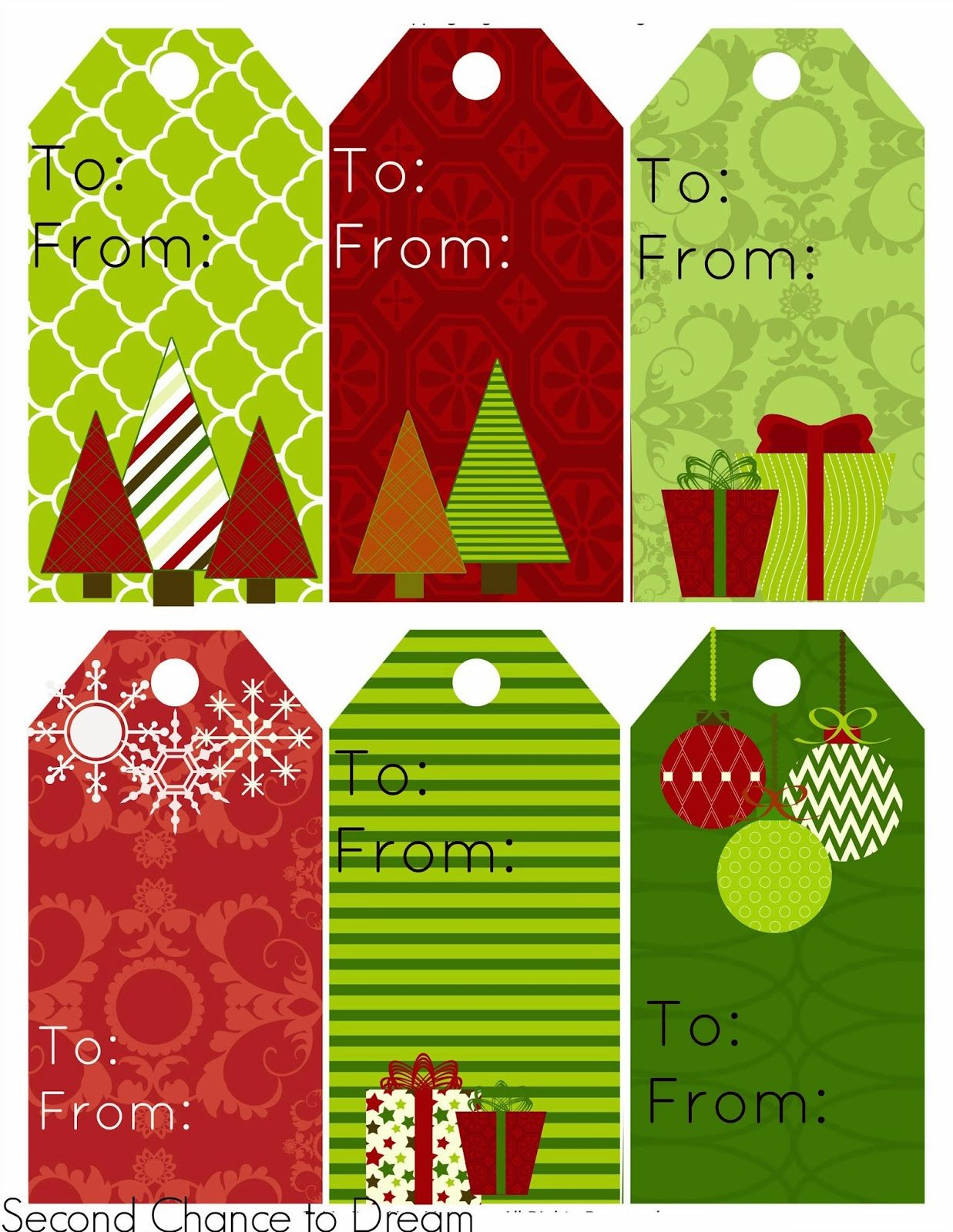 Printable personalized christmas gift tags free