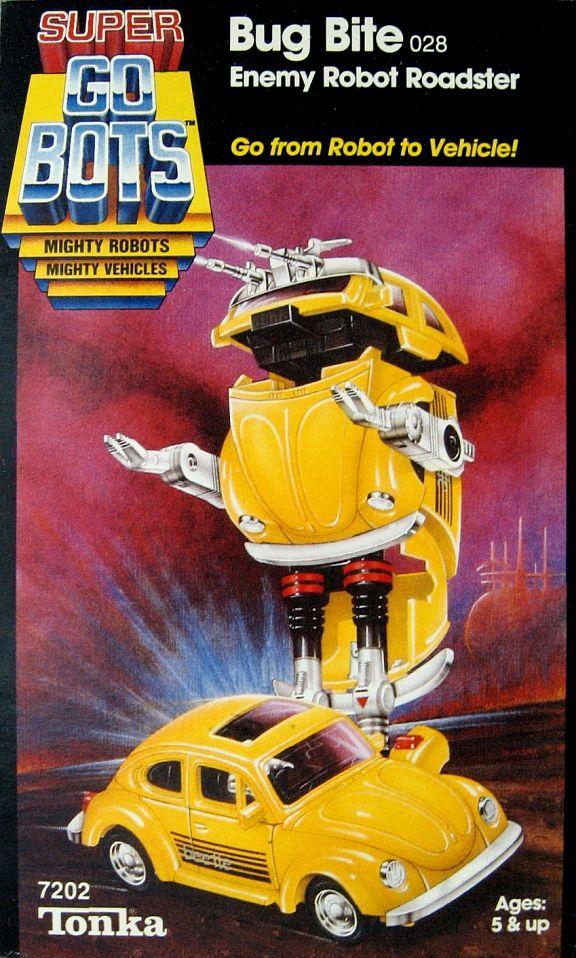 Vintage 1982 Go Bots Super Car Robo Die Cast Transformer Robot to Sports Car