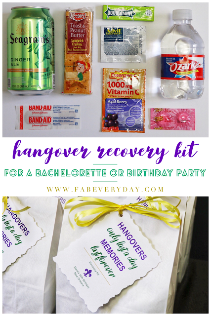 Hangover Recovery Kit A Fun And Practical Party Favor Idea For Bachelorette Or Adult Birthday Weekend Click Visit FabEveryday Details
