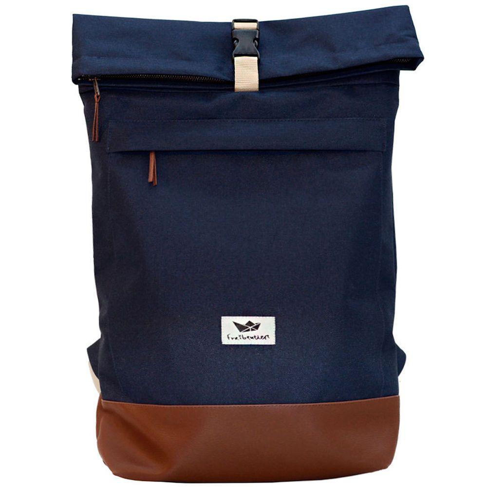 FREIBEUTLER Courier Bag blue, Kurier Rucksack, Rolltop Backpack, Hamburg
