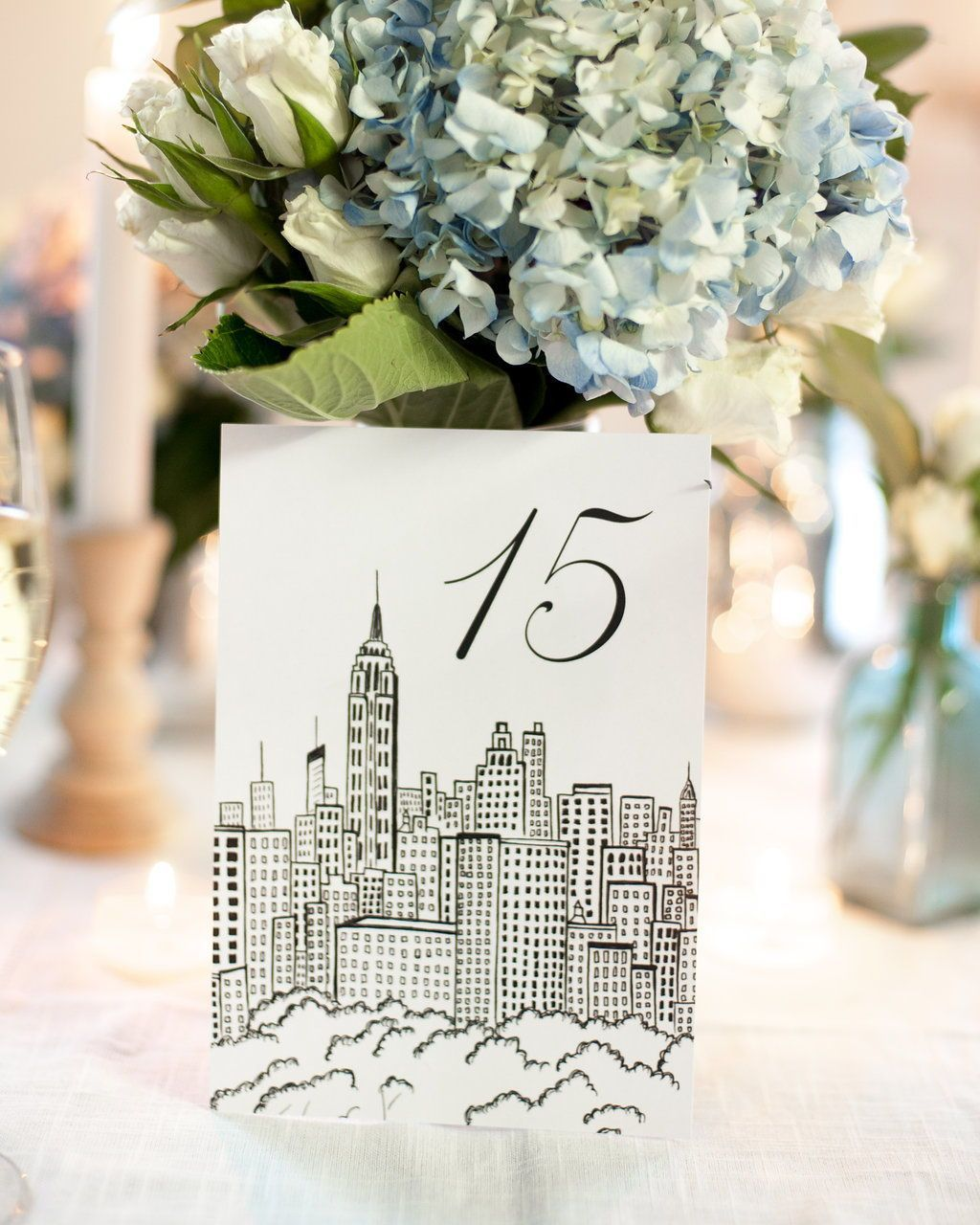 nyc neighborhood wedding table numbers | new york city