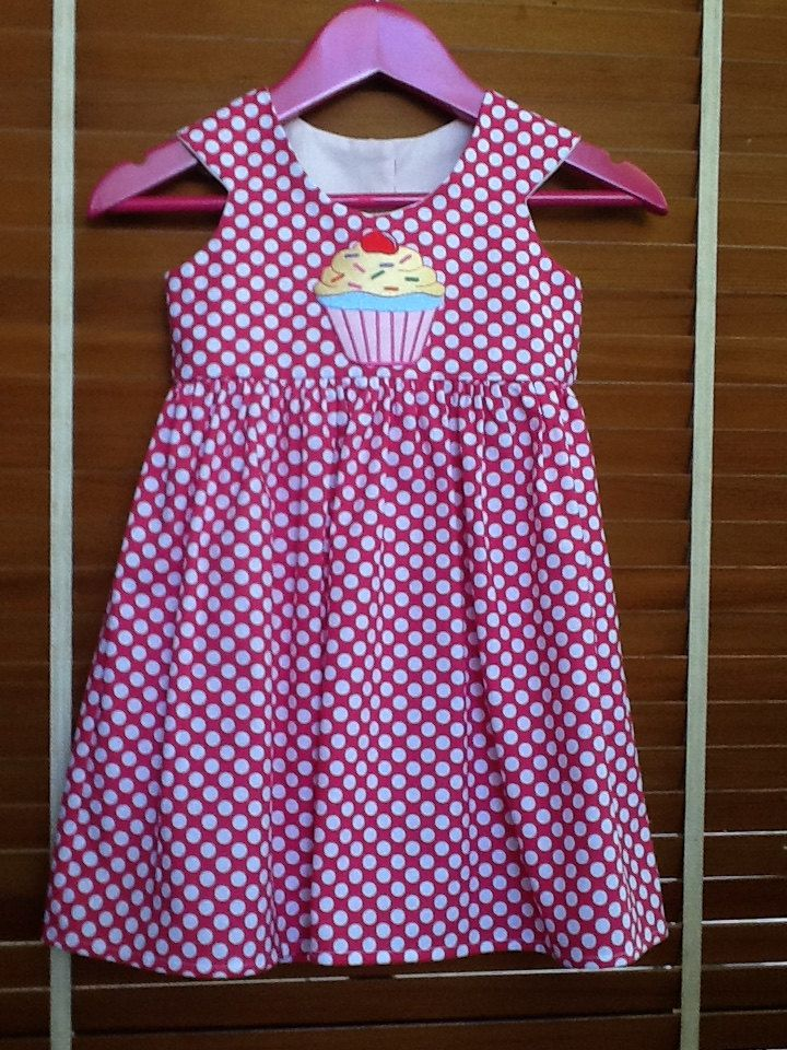 A personal favourite from my Etsy shop https://www.etsy.com/au/listing/290473323/girls-dress-darling-dots