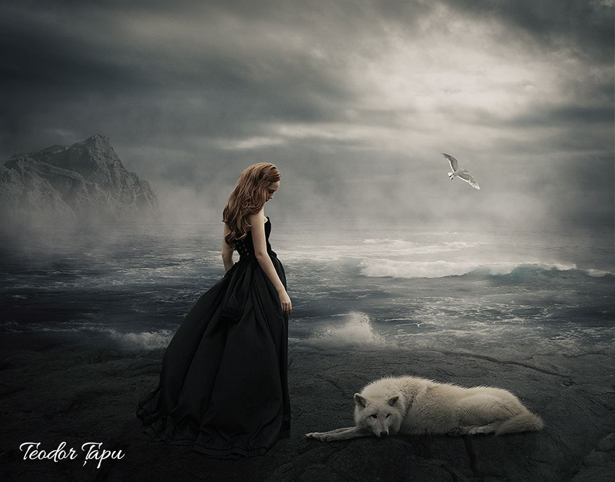 Girl and her wolf (Photo manipulation) Wolf photos