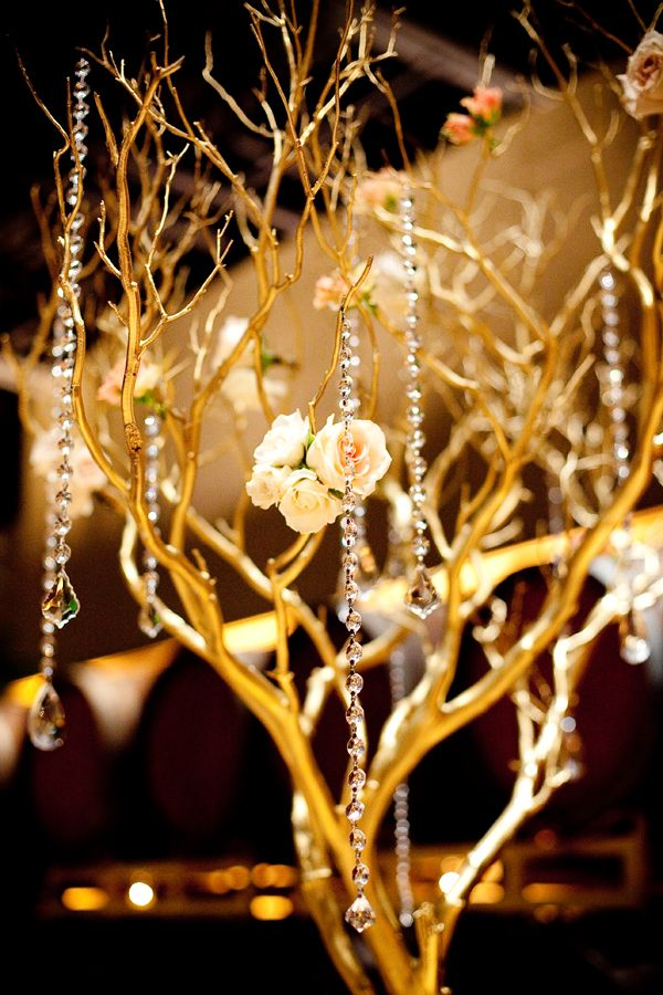 Pink and peach bejeweled wedding in california