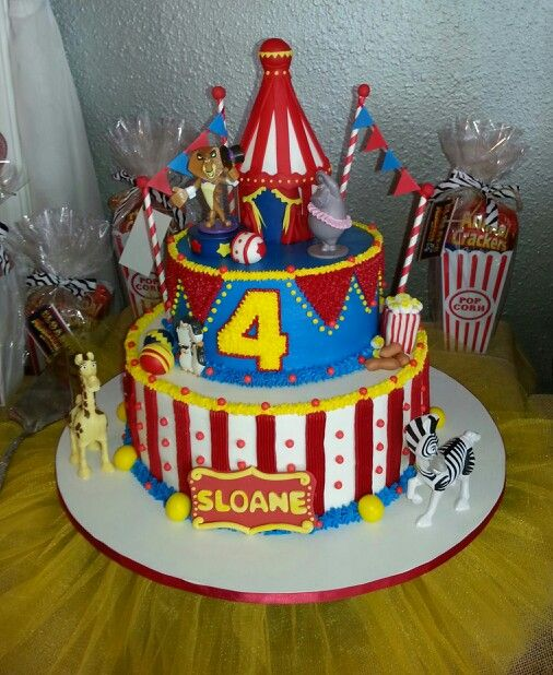 Madagascar 3 Birthday Cake Madagascar 3 Party 3rd