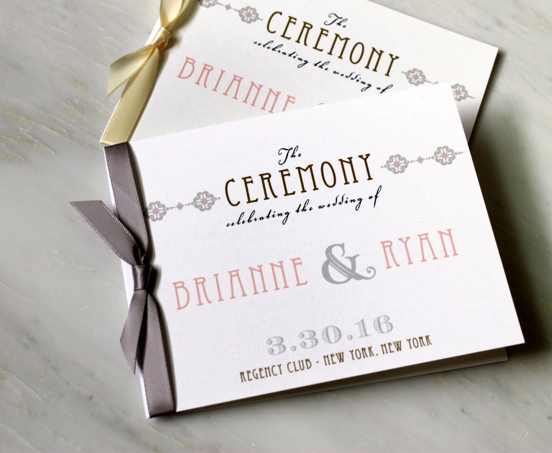 elegant ceremony programs small wedding ceremony booklet with