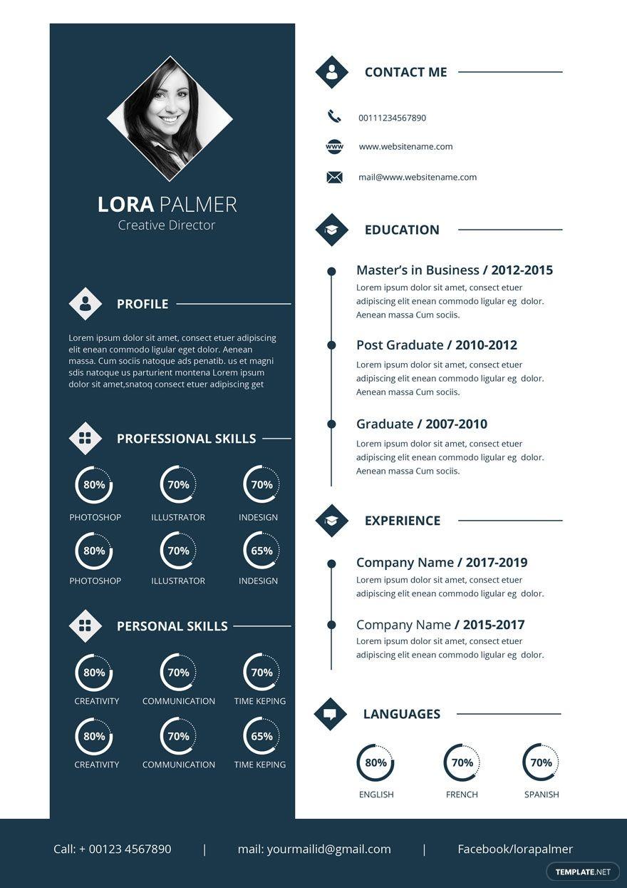 Free Creative Director Resume Resume design template
