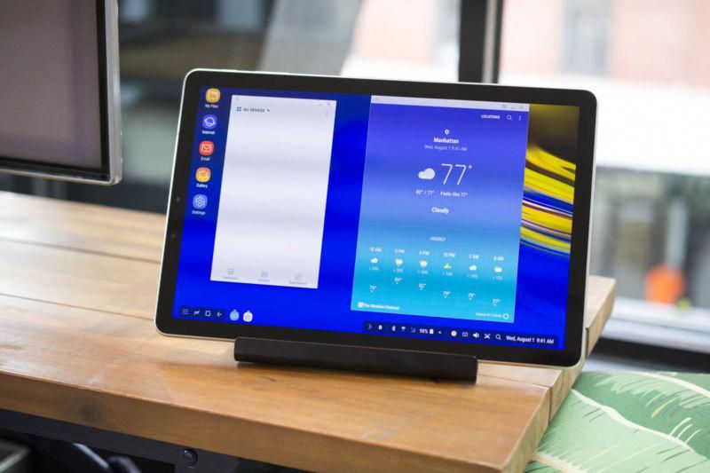 Galaxy Tab S4 Review Even Samsung S Dex Desktop Can T Save Android Tablets Ars Technica Android Tablets Galaxy Tab Samsung Galaxy Tab