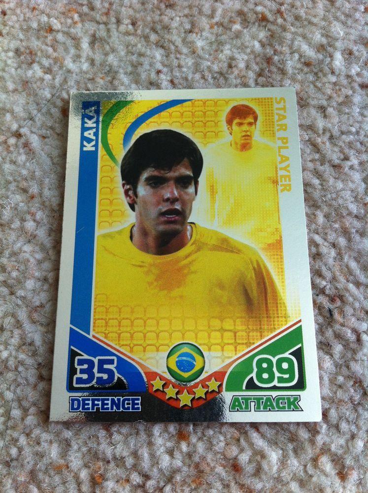 Match Attax 2010 Kaka Brazil Shiny Star Player Trading