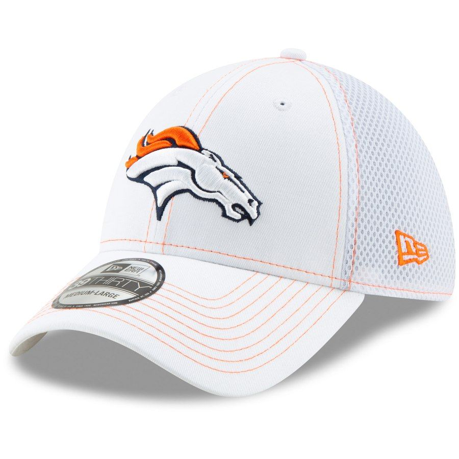 info for e177d f5baf Men s Denver Broncos New Era White Team Neo 39THIRTY Flex Hat, Your Price    25.99