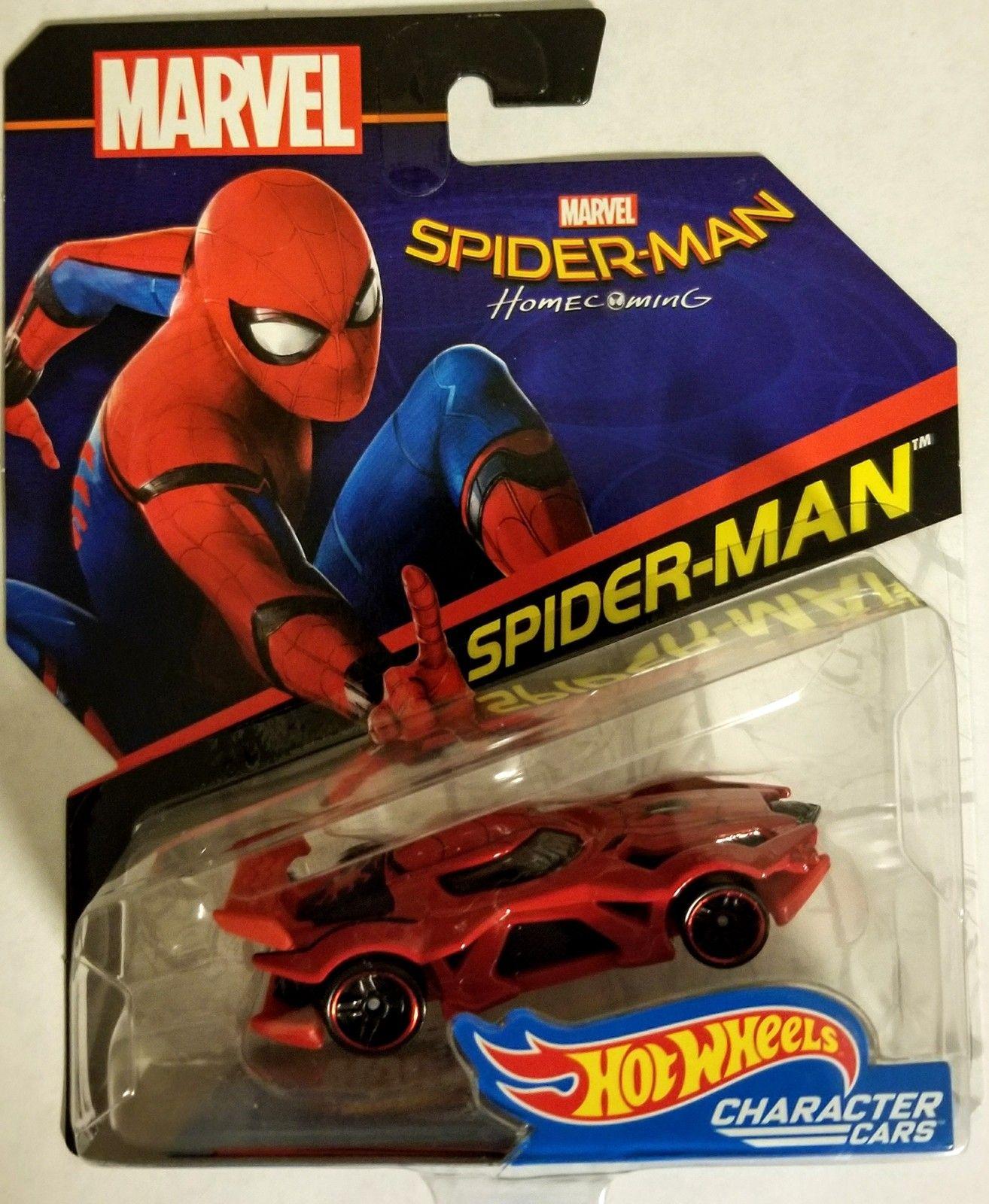 7ae3957c Hot Wheels Marvel Comics SPIDER-MAN Home Coming Character Car Hot Wheels  Marvel Comics SPIDER