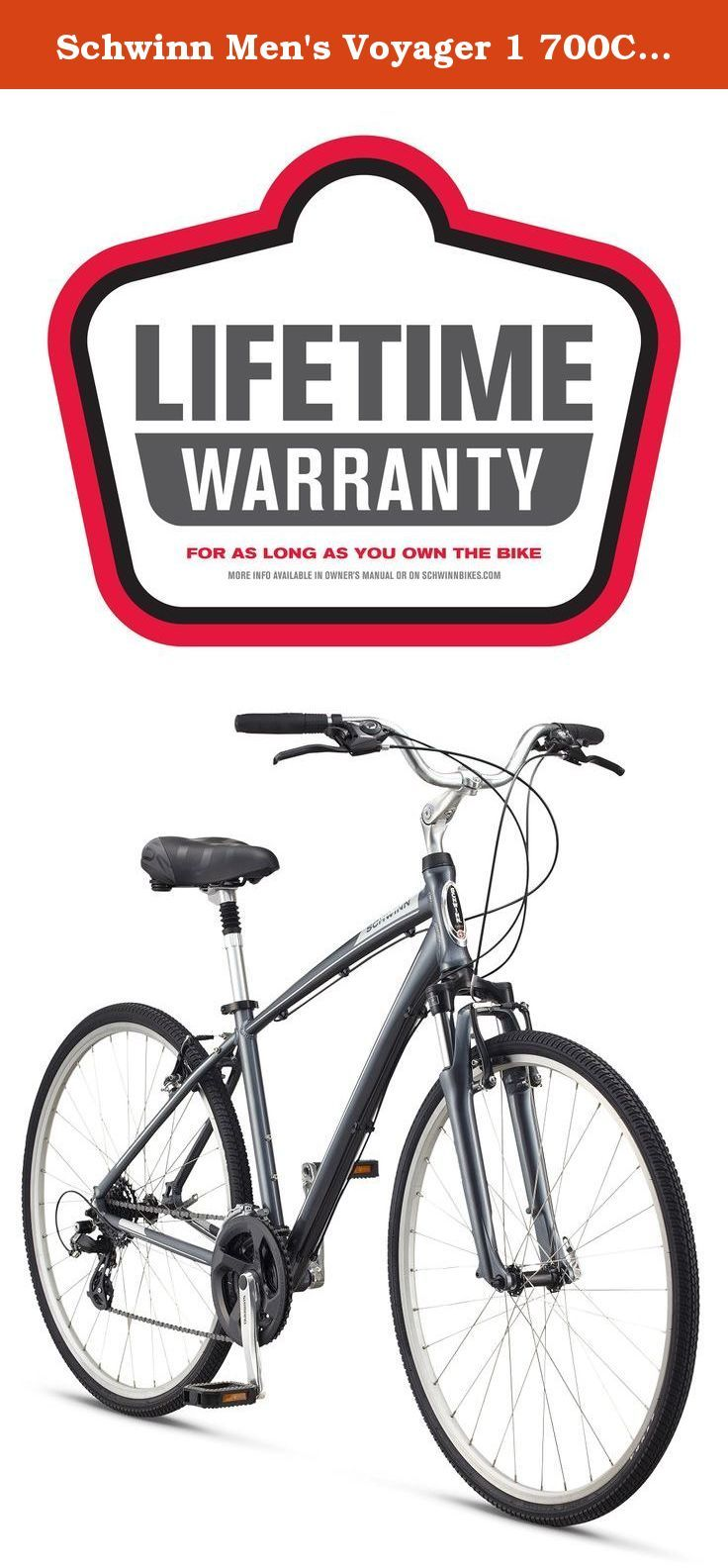 Schwinn Men S Voyager 1 700c Wheels Hybrid Bicycle Charcoal 16 Small Whether You Ride For Pleasure Fitness Or Out Of Comfort Bike Hybrid Bicycle Schwinn