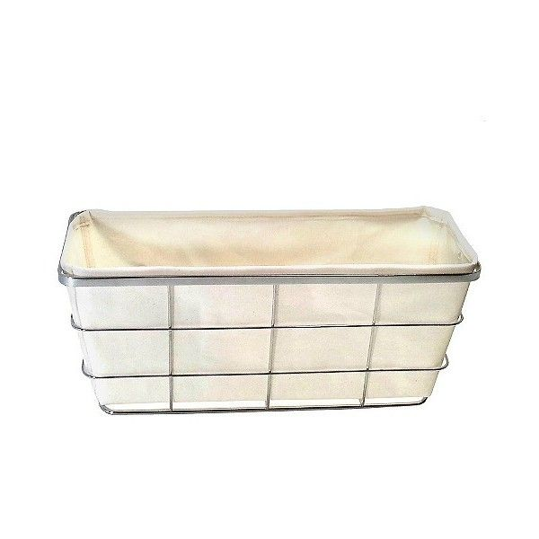 Toilet Tank Bath Basket With Linen Insert Chrome Threshold Grey Grey 10 Liked On Polyvore Featuring Home Be Toilet Tank Gray Bathroom Accessories Chrome