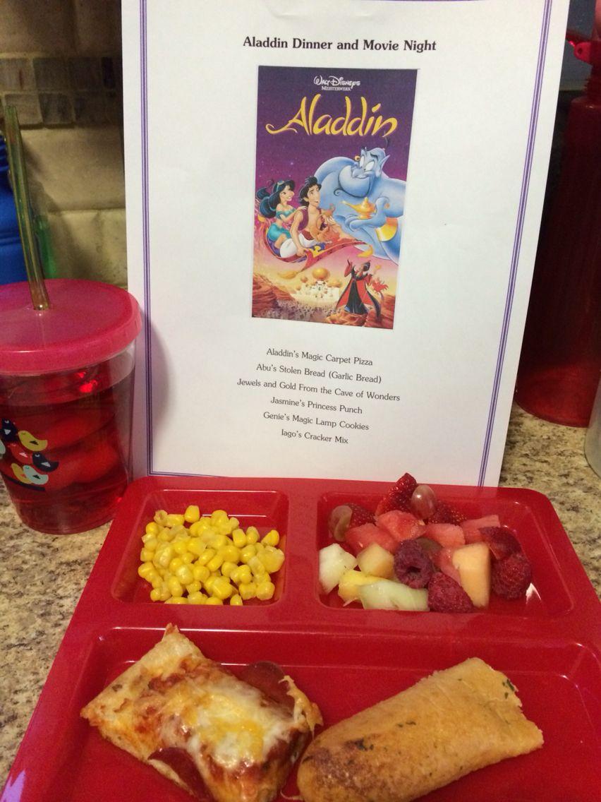 Aladdin Dinner Movie Night Disney Movie Night Dinner Disney Movie Night Movie Night