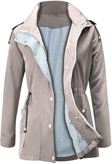 566ecf677 Amazon.com: FISOUL Raincoats Waterproof Lightweight Rain Jacket ...