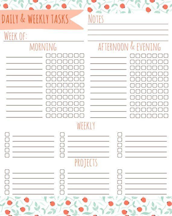 Household Checklist, Cute Cleaning List, Printable To Do List
